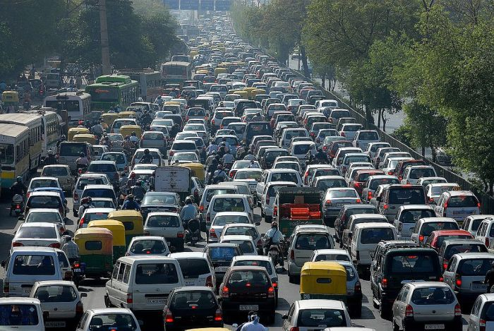 A-Traffic-Jam-in-India