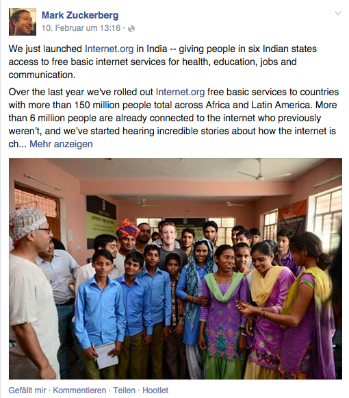 Facebook brings its free mobile Internet service to India!