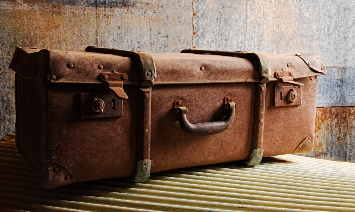 Vintage suitcase, old suitcase